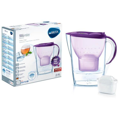 Brita Marella 2.4L Water Jug with 1 Maxtra Filter (Purple) - Water Filters
