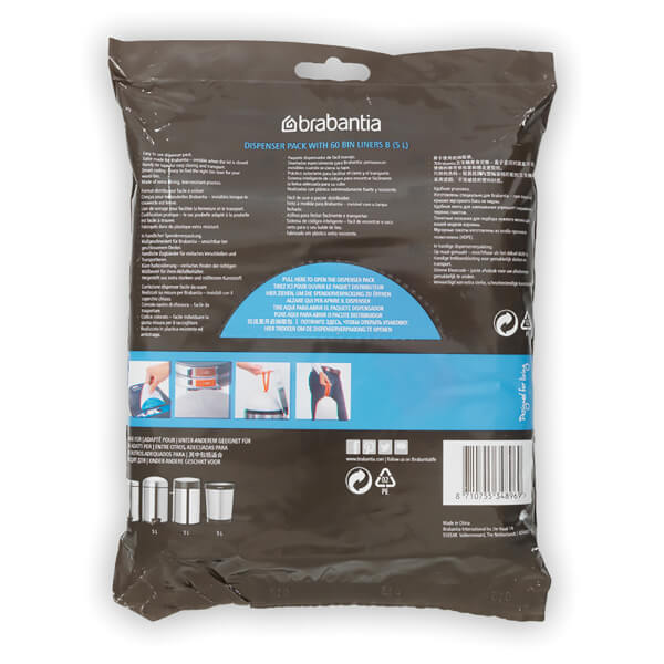 Brabantia PerfectFit Dispenser Pack F Slimline - 20 Litre (Pack of 40) - Home and Living