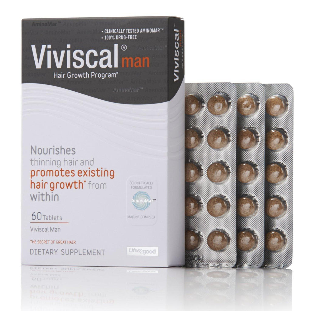 Viviscal Man Max Strength Hair Supplement Nourishment 1 Month Supply 60 Tablets - Beautycare