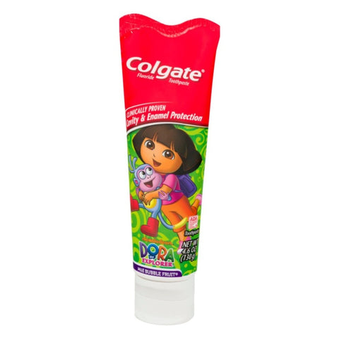 Colgate Dora The Explorer Fluoride Toothpaste, Mild Bubble Fruit Flavor, 4.6 Ounce - Dentalcare