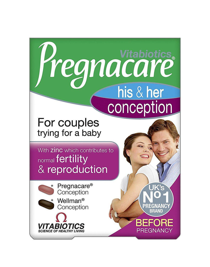 Pregnacare Vitabiotics His and Her Conception, 60 Tablet -