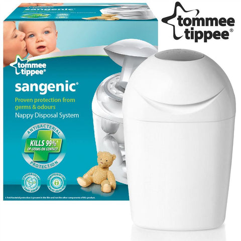 Tommee Tippee Sangenic Tec Nappy Disposal Tub (White) - Mother Baby & Kids