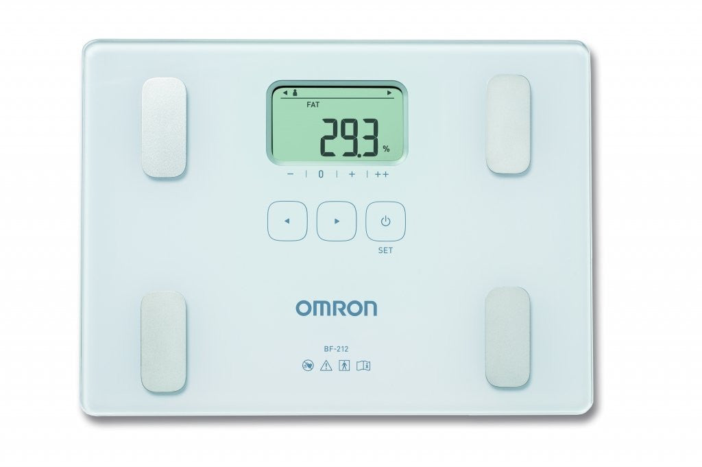 Omron BF212 Slim Body Fat Mass Home Composition Monitor Bathroom Weight Scales - Healthcare
