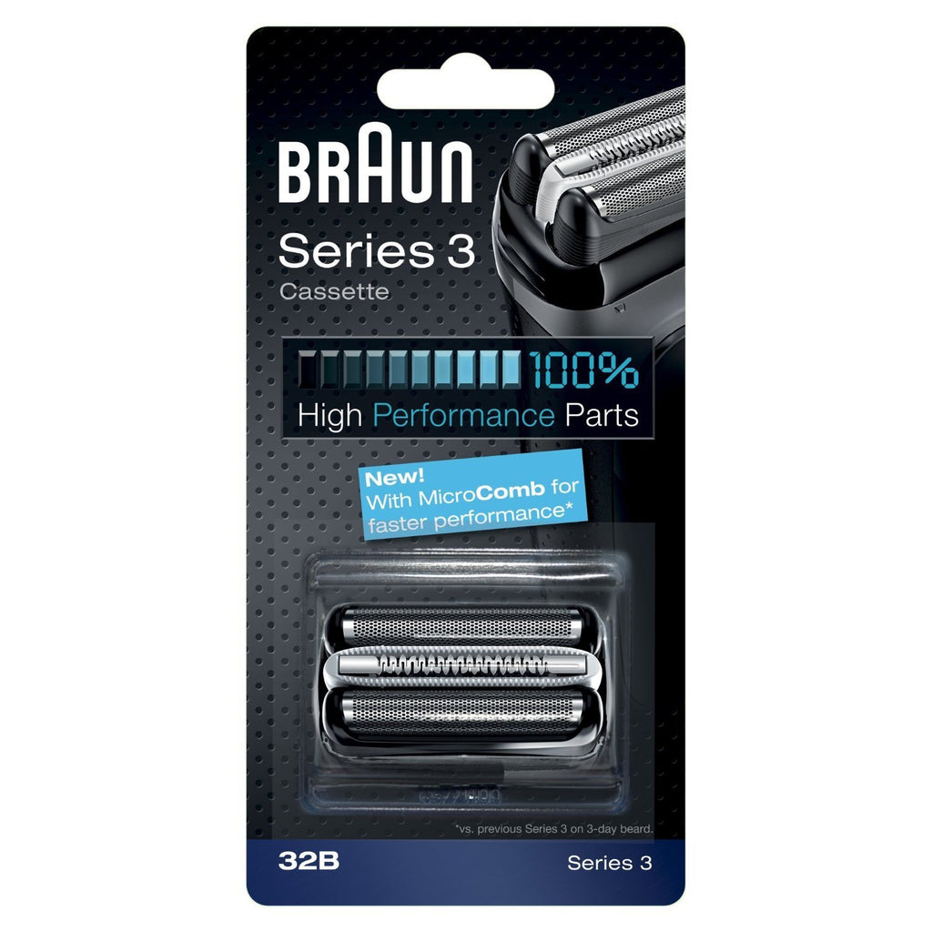 Braun 32B High Performance Series 3 Shaver Replacement Foil and Cutter Cassette - Personal Grooming