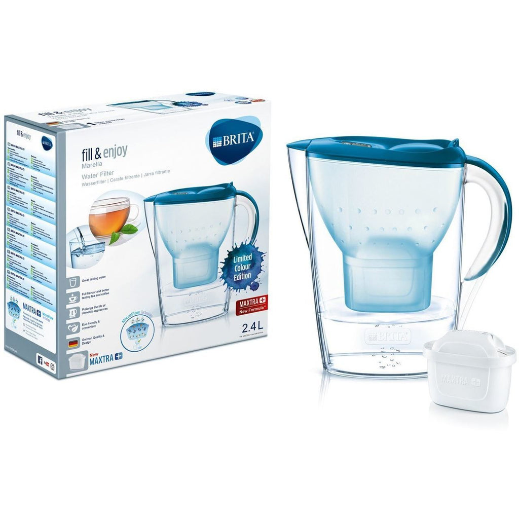 Brita Marella 2.4L Water Jug with 1 Maxtra Filter (Teal) - Water Filters