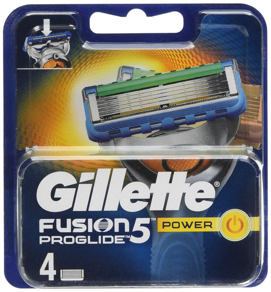 Gillette Fusion5 ProGlide Power Razor Blades for Men, 4 Refills - Personal Grooming