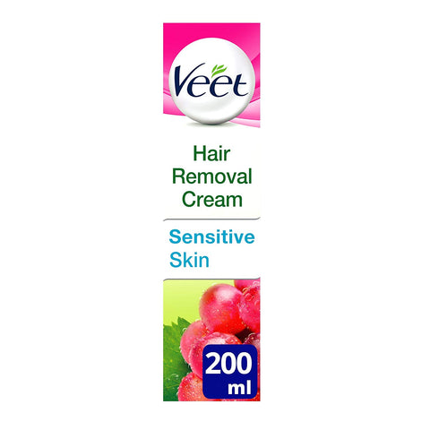 Veet Natural Inspirations Hair Removal Cream for Sensitive Skin, 200ml - Skincare
