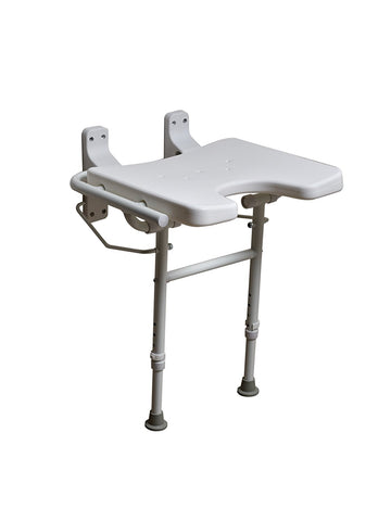 NRS Healthcare M00789 Shower Seat - Wall Mounted with Legs