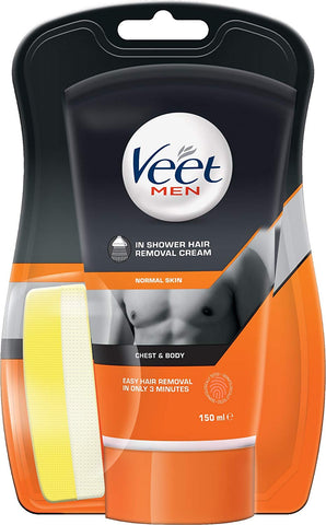 Veet Men in Shower Hair Removal Cream, 150 ml