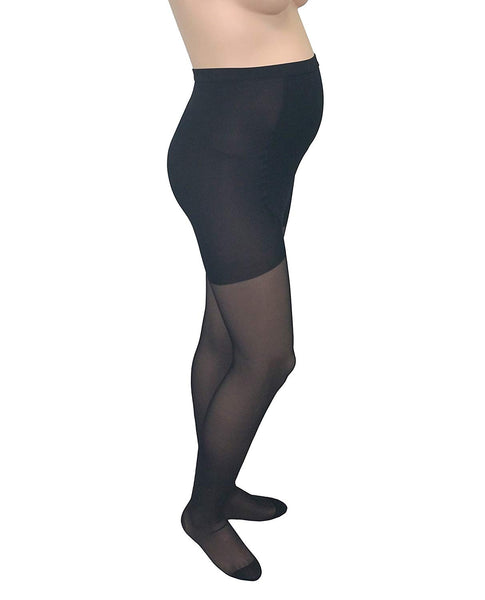 Gabrialla 20-22 mmHg Medium Black H-260 Maternity Pantyhose Compression - Pack of 2 - Mother Baby & Kids
