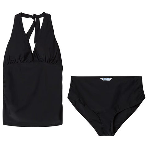Carriwell Halter Neck Maternity Tankini Swimsuit (Medium, Black) - Mother Baby & Kids