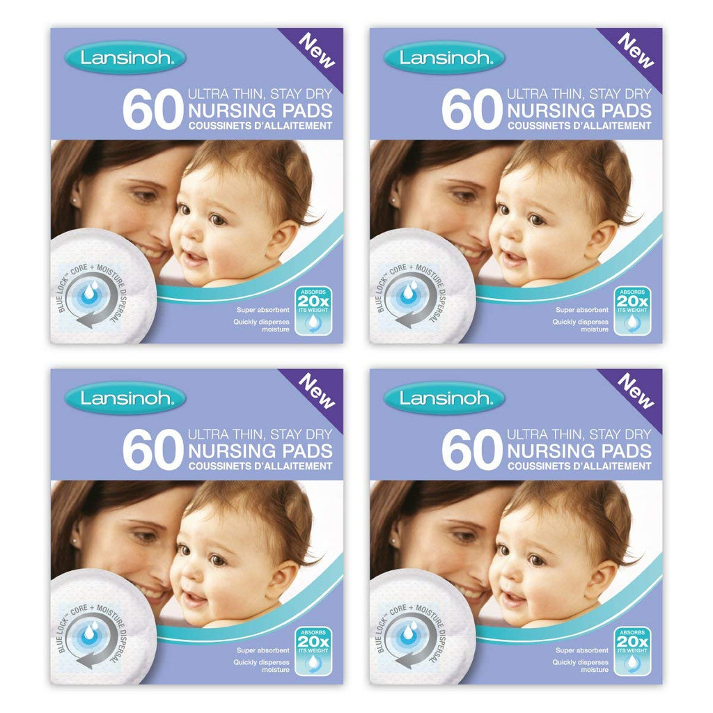 Lansinoh Disposable Nursing Breast Pads (4 x 60 Piece Packs) - Mother Baby & Kids
