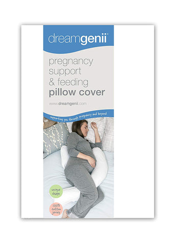 Dreamgenii Pregnancy Support and Feeding Pillow Cover, White Cotton Jersey - Mother Baby & Kids