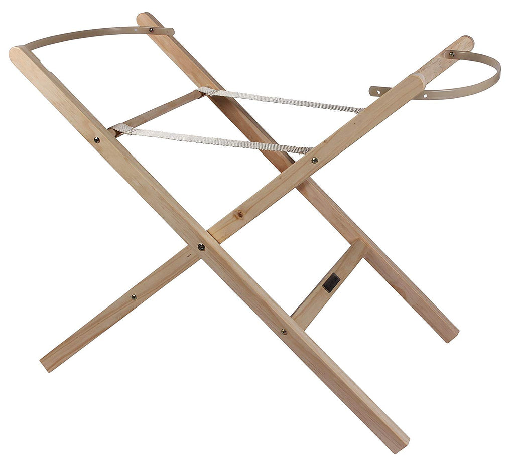 Clair de Lune Self Assembly Natural Moses Basket Folding Stand - Mother Baby & Kids