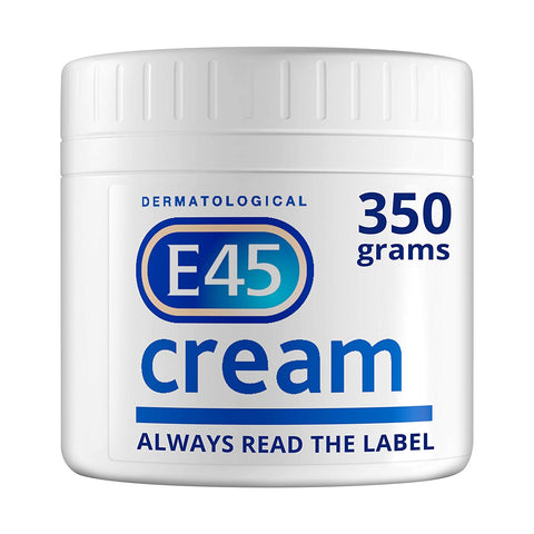 E45 Dermatological Moisturising Cream Tub, 350 g - Skincare