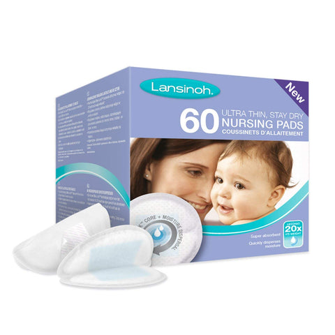 Lansinoh Disposable Nursing Breast Pads (60 Piece Pack) - Mother Baby & Kids