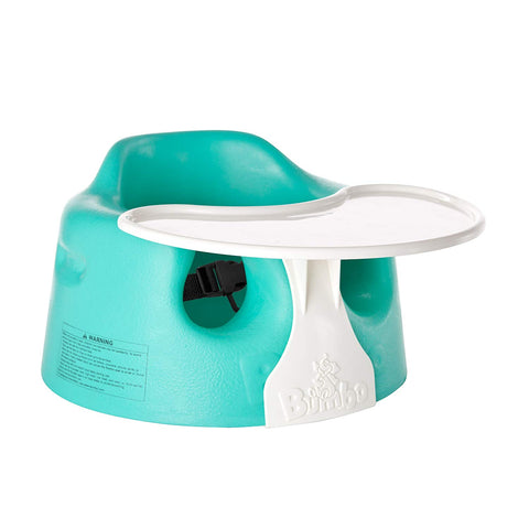 Bumbo Floor Seat and Play Tray Combo Pack (Aqua) - Mother Baby & Kids