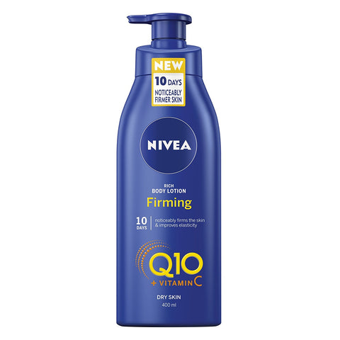 NIVEA Q10 + Vitamin C Firming Body Lotion for Dry Skin, 400 ml