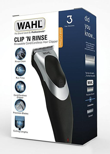 Wahl Clip and Rinse Cordless Clipper and Trimmer Set - Personal Grooming