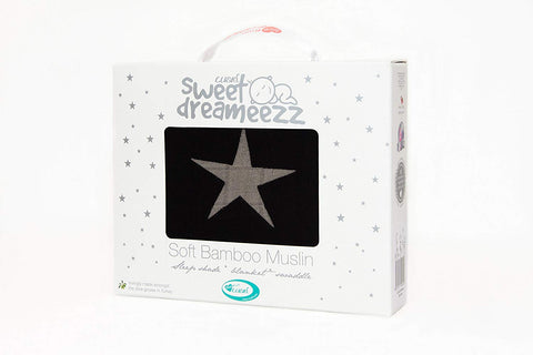Cuski Sweet DreameezZ Bamboo Muslin Blanket XL (Grey Star) - Mother Baby & Kids