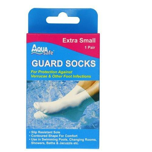 AquaSafe Verruca Guard Socks for Swimming - Extra Small - Child Size 9 - 12 - Recreational Accessories