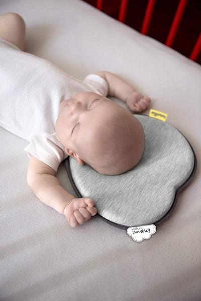 Babymoov Lovenest Original Baby Pillow and Head Support, Smokey Grey - Mother Baby & Kids