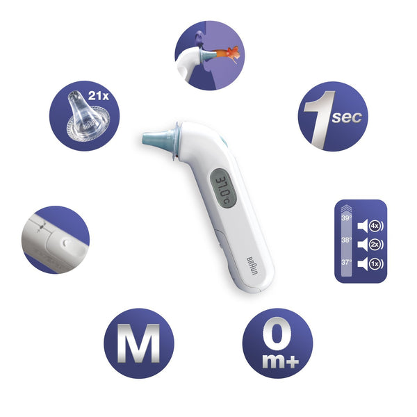 Braun ThermoScan 3 IRT3030 Infrared Ear Thermometer - Mother Baby & Kids