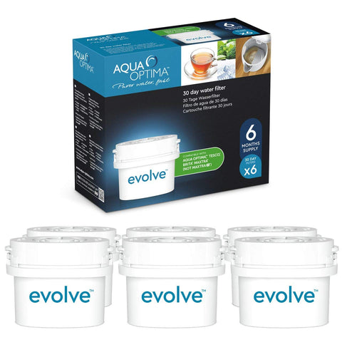 Aqua Optima Evolve 6 Month pack, 6 x 30 Day Water Filters - Water Filters