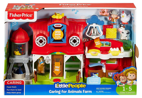 Fisher-Price FKD78 Little People Caring for Animals Farm Activity Toddler Role Play Farm Set Toy -