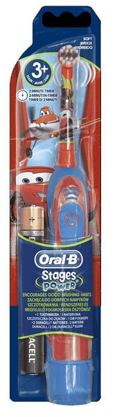 Oral-B Stages Power Kids Battery-Powered Toothbrush Featuring Disney Cars