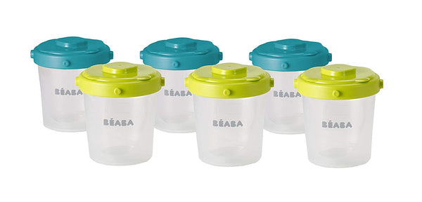 Beaba 2nd Age Portions Clip Food Storage (200 ml, Pack of 6) -