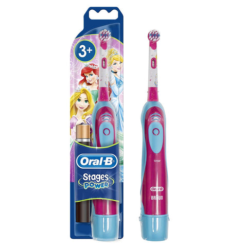 Oral-B Power Kids Battery-Powered Toothbrush Featuring Disney Princess