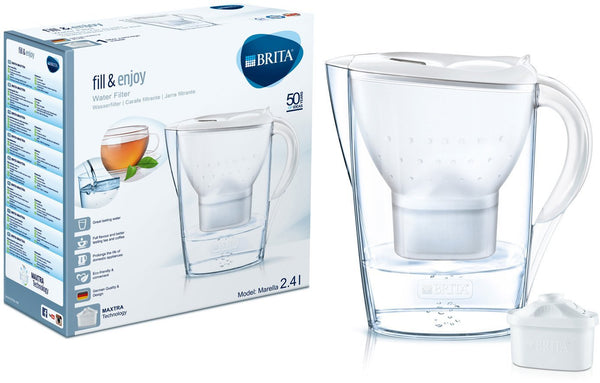 Brita Marella 2.4L Water Filter Jug with 1 Maxtra (White) - Water Filters