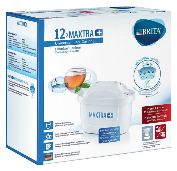Brita Maxtra + Water Filter Cartridges - Pack of 12 (EU Version) - Water Filters