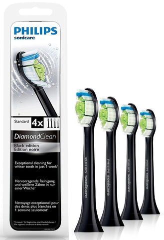 Philips Diamond Clean Black Replacement Heads (4 Pack) - Dentalcare