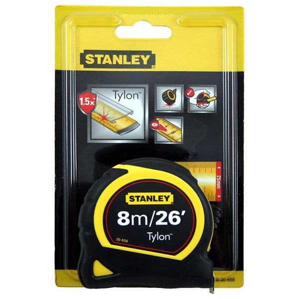 Stanley STA030656 Pocket Tylon Tape, 8 m/26 feet (25 mm) - Multi-Colour - Home & Living