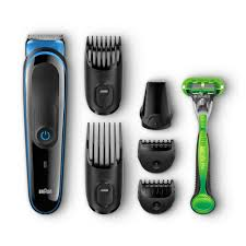 Braun Multi Grooming Kit MGK3040 (7-in-1 Beard/Hair Trimmer for Men Plus Gillette Body Razor) - Personal Grooming