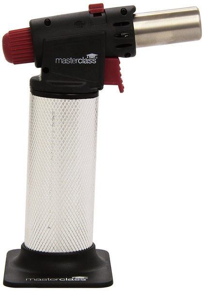 KitchenCraft MasterClass Pro Cooks Blow Torch (Silver/Black/Red) - Home & Living