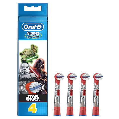 Oral-B Stages Power Kids Star Wars Replacement Brush Heads - Pack of 4 - Dentalcare