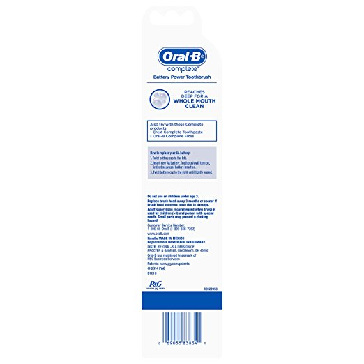 Oral-B Complete Deep Clean Battery-Powered Toothbrush (color may vary) - Dentalcare