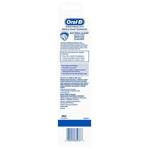 Oral-B Pro-Health Anti-Microbial Battery-Powered Toothbrush (color may vary) - Dentalcare
