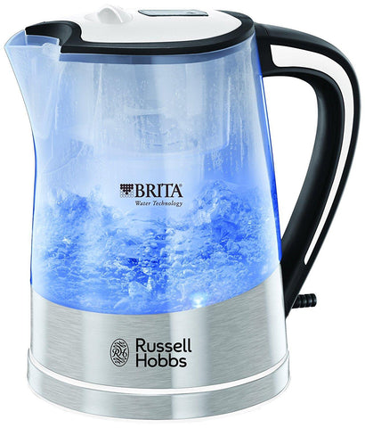 Russell Hobbs Plastic Brita Filter Purity Kettle 22851 1L - 3000 W (Transparent) - Home & Living