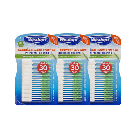 Wisdom Clean Between Interdental Fine Blue, Pack of 3 - 90 Count - Dentalcare