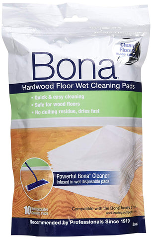 Bona Hardwood Floor Wet Cleaning Pad - Pack of 10 - Home & Living