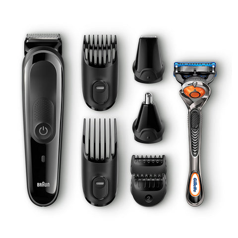Braun MGK3060 Multi Grooming Kit 8in1 Beard & Hair Trimming Kit with Nose & Precision Trimmer - Personal Grooming