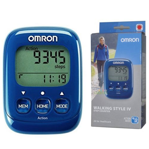 Omron Walking Style IV Exercise Step Calorie Counter Activity Monitor Pedometer - Healthcare