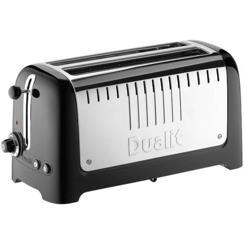 Dualit 46025 Lite 4 Slice Long Slot Toaster - Metallic Black - Home and Living