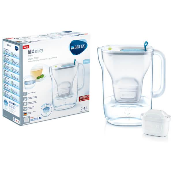BRITA Maxtra+ Style Cool Water Filter Jug - Blue - Water Filter