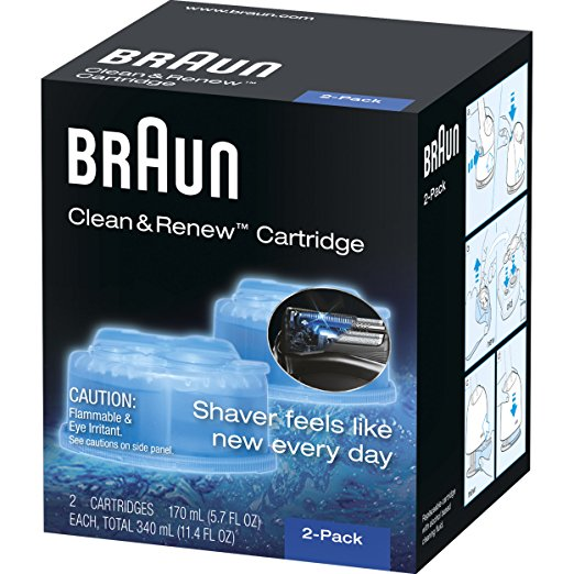 Braun CCR2 Clean Renew Mens Electric Shaver Hygienic Refill Cartridges - Personal Grooming
