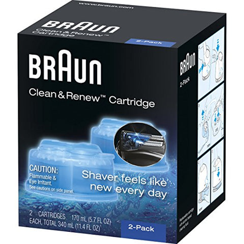Braun CCR2 Clean&Renew Refill Cartridges - Pack of 2 - Personal Grooming